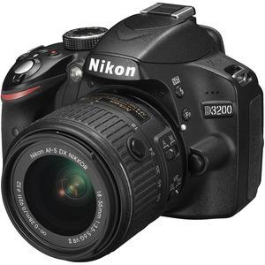 Spiegelreflexkamera Nikon D3200 Schwarz + Objektiv Nikon AF-S DX Nikkor 18-55 mm f/3.5-5.6G VR II
