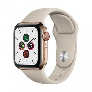 Apple Watch (Series 4) Septembre 2018 44 mm - Aluminium Or - Bracelet Sport Gris
