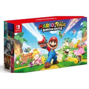 Console Nintendo Switch 32 Go + Manettes - Rouge et Bleu + jeu Mario et Les Lapins Crétins Kingdom Battle