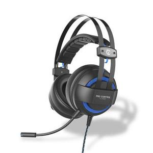 Casque Réducteur de Bruit Gaming avec Micro Under Control Pro Control E-Sport - Noir/Bleu