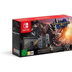 Console Nintendo Switch Monster Hunter Rise édition + Manettes - Gris