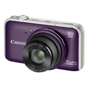 Compact - Canon PowerShot SX220 HS Mauve Canon Zoom Lens 14X IS 28-392mm f/3.1-5.9