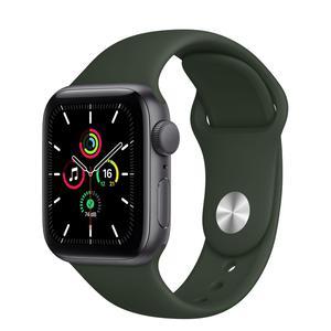 Apple Watch (Series 5) September 2019 44 mm - Aluminium Spacegrijs - Armband Sport armband Groen