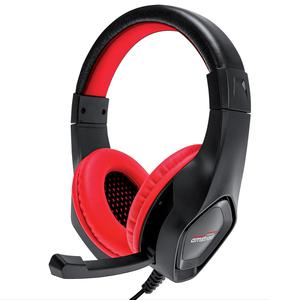 Casque Gaming avec Micro Amstrad Pro Gamer AMS H888 - Noir/Rouge