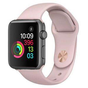 Apple Watch (Series 3) 42 - Aluminium Gris sidéral - Bracelet Sport Rose