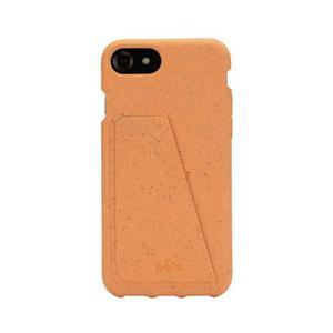 Coque Wallet écoresponsable, 100% biodégradable pour iPhone 6/6s/7/8/SE - Cantaloup
