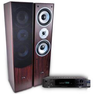 Barre de son Ltc Pack Hifi / Home-Cinéma L766-WA amplificateur 2 x 50W ATM6000BT - Marron