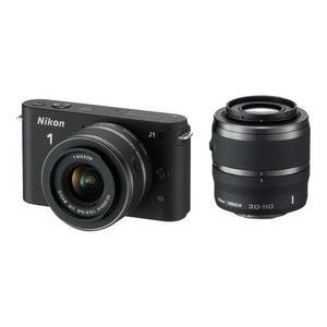 Hybrid Nikon 1 J1 - Zwart + Lens Nikon 10-30mm f/3.5-5.6 + Lens Nikon 30-110mm f/3.8-5.6