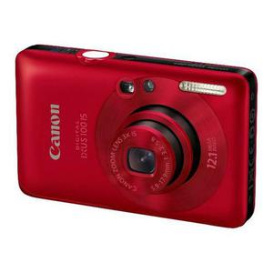 Compactcamera Canon Digital IXUS 100 IS - Rood + Lens Canon 3X IS Zoom