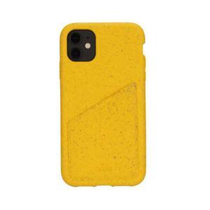 Coque Wallet écoresponsable, 100% biodégradable pour iPhone 11 - Jaune
