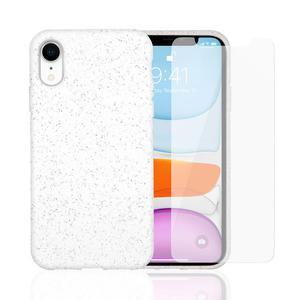 Hülle und Schutzfolie iPhone XR Weiß