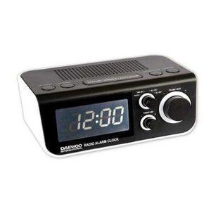 Radio Réveil Digital Daewoo DCR48W - Blanc