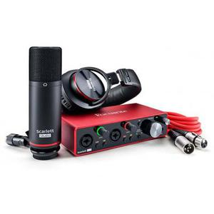 Ensemble Studio Focusrite Scarlett 2I2 - Noir/Rouge