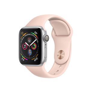 Apple Watch (Series 4) Septembre 2018 40 mm - Aluminium Argent - Bracelet Sport Rose