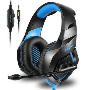 Casque Réducteur de Bruit Gaming avec Micro Onikuma K1-B - Noir/Bleu