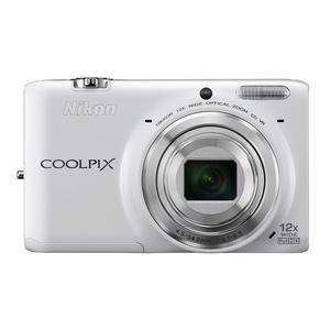 Compactcamera Nikon Coolpix S6500 Wit + Lens Nikon Nikkor Wide Optical Zoom 25-300 mm f/3.1-6.5 ED VR