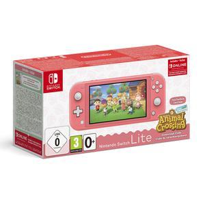 Console Nintendo Switch Lite - Corail + Animal Crossing New Horizons