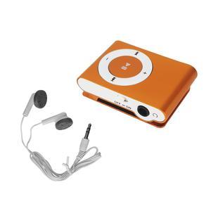 Lecteur MP3 & MP4 Noname Mini Baladeur MP3 portable - Design - Clips ceinture - Micro SD + Ecouteurs - Orange Go -
