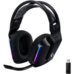 Cuffie Gaming Bluetooth con Microfono Logitech G733 LightSpeed Wireless RGB - Nero