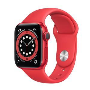 Apple Watch (Series 6) Septembre 2020 40 mm - Aluminium Rouge - Bracelet Sport Rouge