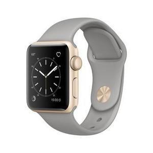 Apple Watch (Series 4) September 2018 40 mm - Aluminium Gold - Armband Sportarmband Grau