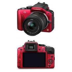 Hybride - Panasonic Lumix DMC-G3 Rouge Panasonic Lumix G Vario ASPH Mega OIS