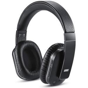 Kopfhörer Rauschunterdrückung Bluetooth mit Mikrophon August EP750 - Schwarz