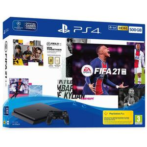 Sony PlayStation 4 Slim 500 GB + Controller + FIFA 2021 - Zwart