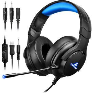 Kopfhörer Gaming mit Mikrophon Lycander LGH-568 - Schwarz/Blau