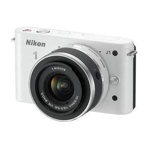 Nikon 1 J1 - Blanc + Objectif Nikkor 1 10-30mm f/3.5-5.6 + 30-110mm f/3.8-5.6