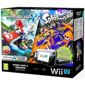 Nintendo Wii U Mario Kart 8 & Splatoon Premium Pack - HDD 32 GB - Negro