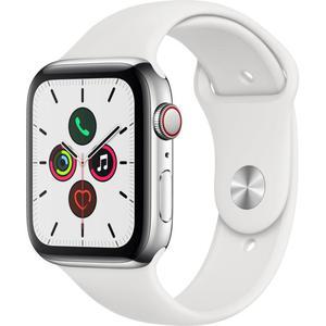 Apple Watch (Series 5) Septembre 2019 44 mm - Aluminium Argent - Bracelet Sport Blanc