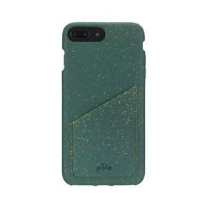 Coque Wallet écoresponsable, 100% biodégradable pour iPhone 6/6s/7/8 Plus - Vert