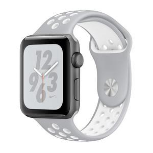 Apple Watch (Series 4) Septembre 2018 40 mm - Aluminium Gris sidéral - Bracelet Sport Nike Gris/Blanc