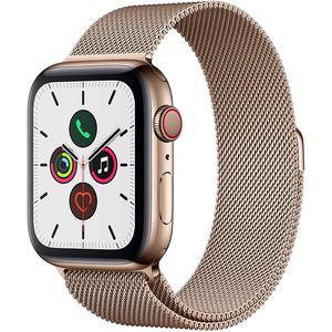 Apple Watch (Series 5) September 2019 44 mm - Rostfreier Stahl Gold - Armband Milanaise Armband Gold
