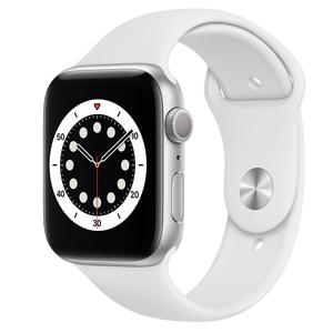 Apple Watch (Serie 6) September 2020 40 mm - Aluminium Zilver - Armband Sport armband Wit