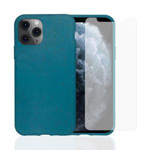 Coque et 2 écrans de protection iPhone 11 Pro - Compostable - Bleu