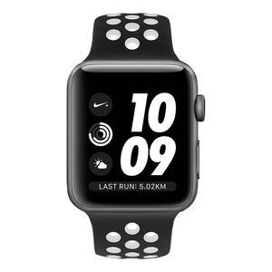 Apple Watch (Series 2) Septiembre 2016 42 mm - Aluminio Gris espacial - Correa Deportiva Nike Negro/Blanco