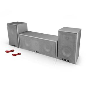 Barre de son Ltc Audio Ensemble Home Cinema 3 Enceintes 150W Silver + Câbles HP - Argent