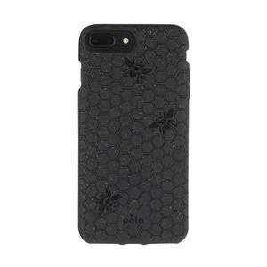 Coque écoresponsable, 100% biodégradable pour iPhone 6/6s/7/8 Plus - Noir
