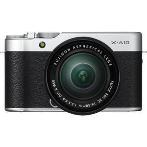 Hybride Fujifilm X-A10 - Argent/Noir + Fujinon 16-50mm f/3.5-5.6