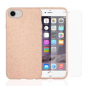 Coque et 2 écrans de protection iPhone 6/6S/7/8/SE (2020) - Compostable - Rose