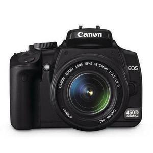 Spiegelreflexcamera Canon EOS 450D - Zwart + Canon 18-55mm f/3.5-5.6