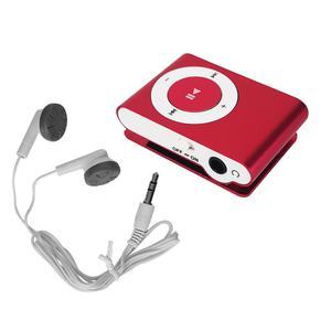 Lecteur MP3 & MP4 Noname Mini Baladeur MP3 portable - Design - Clips ceinture - Micro SD + Ecouteurs - Fushia Go -