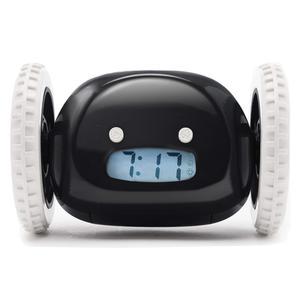 Sveglia Clocky Runaway Clock su ruote - Nero