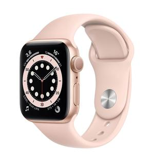 Apple Watch (Serie 6) Septembre 2020 40 mm - Aluminium Or - Bracelet Sport Rose des sables
