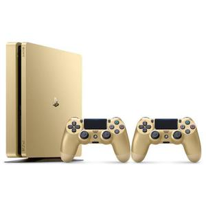Console - Sony PlayStation 4 Slim Gold Edition 500 Go + 2 Manettes - Or