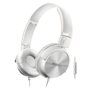 Kopfhörer mit Mikrophon Philips SHL3065 - Silber/Weiß