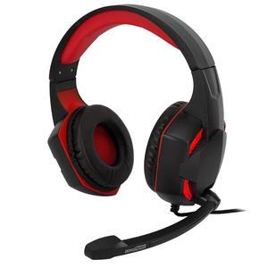 Casque Gaming avec Micro Amstrad Basic AMS H555 - Noir/Rouge