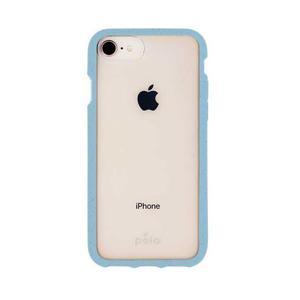 Coque écoresponsable, 100% biodégradable pour iPhone 6/6s/7/8/SE - Bleu Puriste